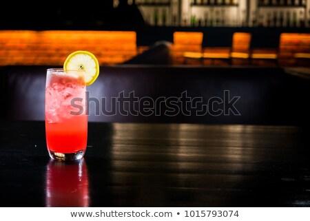 due · cocktail · calce · fetta · isolato · bianco - foto d'archivio © netkov1