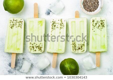 Chia frozen popsicles stock photo © BarbaraNeveu