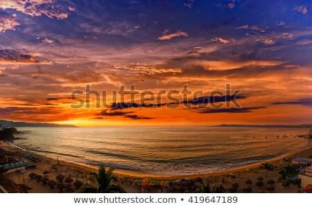 Puesta de sol hermosa México famoso turísticos destino Foto stock © Dreamframer