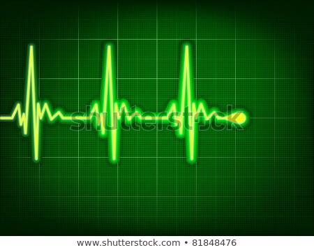 Heart cardiogram on it deep green. EPS 8 Stock photo © beholdereye