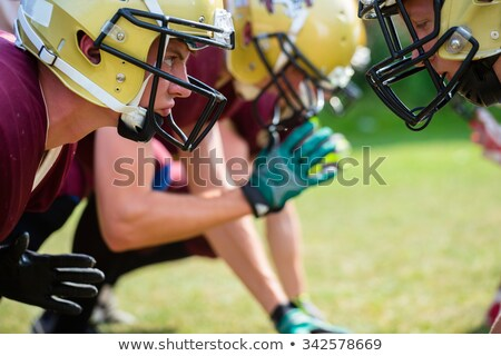 american football game   attack in progress stock photo © kzenon