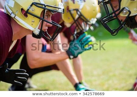 Americano partido de fútbol atacar progreso fútbol hombres Foto stock © Kzenon