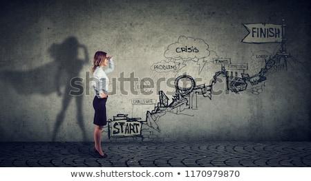 Planejamento imaginação sucesso negócio abrir lápis Foto stock © Lightsource