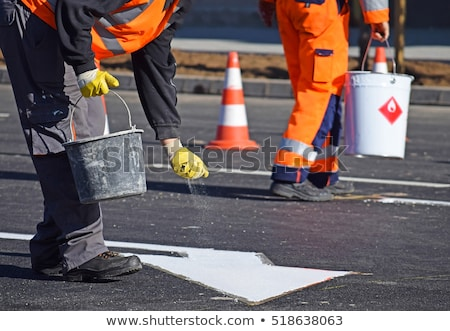 Road construction painter  Stock photo © dzejmsdin