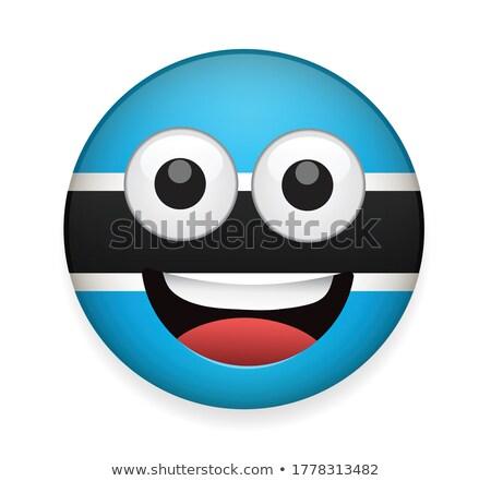 Chat ikona banderą Botswana odizolowany biały Zdjęcia stock © MikhailMishchenko