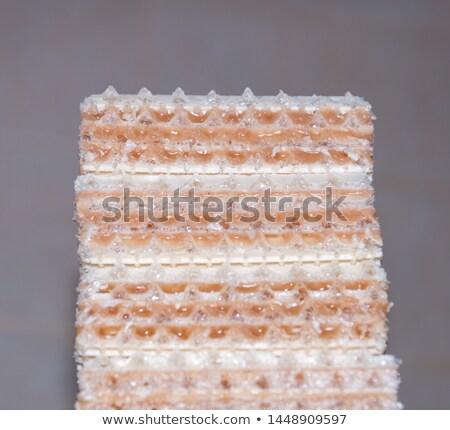 Pinda wafeltje cookie vruchten karamel siroop Stockfoto © Digifoodstock