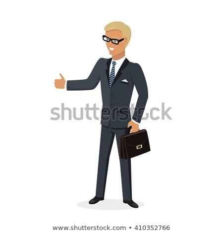 бизнесмен · подобно · Поп-арт · ретро · рисунок - Сток-фото © robuart
