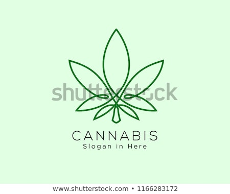 médico · canabis · folha · símbolo · projeto · selos - foto stock © Zuzuan