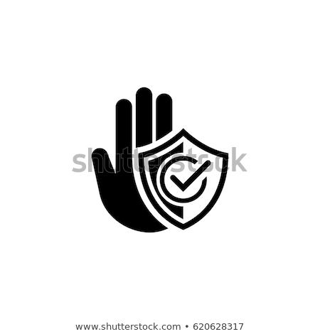 Stockfoto: Icon · ontwerp · geïsoleerd · illustratie · hand · palm