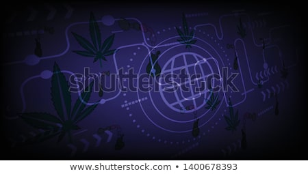 marijuana cannabis leaf silhouette design Stock photo © Zuzuan