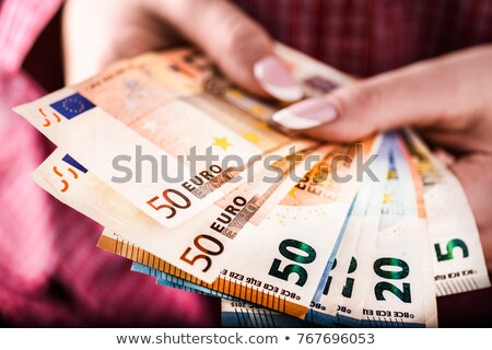 бизнесмен банка предлагающий деньги заем евро Сток-фото © stevanovicigor