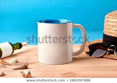 concha · óculos · de · sol · papel · quadro · natureza · mar - foto stock © dmitroza