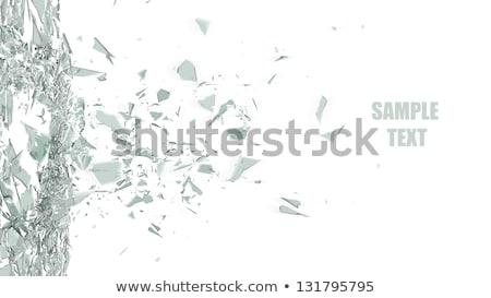 endommagé · pièces · verre · isolé · noir · résumé - photo stock © arsgera