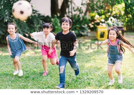 children racing in the park stock photo © bluering