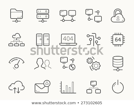 Cloud hosting lijn icon vector geïsoleerd witte Stockfoto © RAStudio