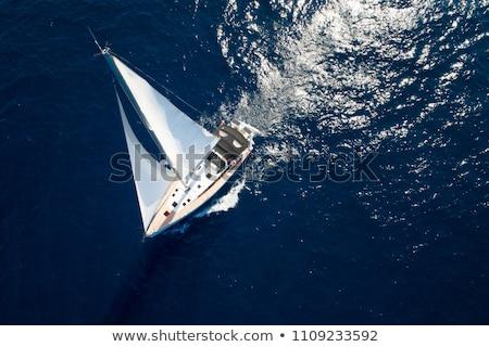 Sailor sailing at sea Stock photo © bluering