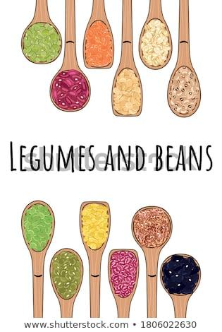 Foto stock: Food Ingredients - Pinto Beans Border