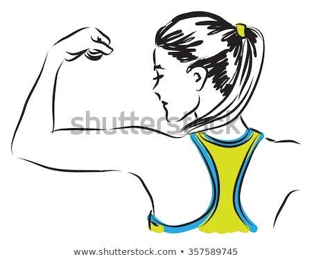 Stock photo: Workout vector illustration clip-art image woman