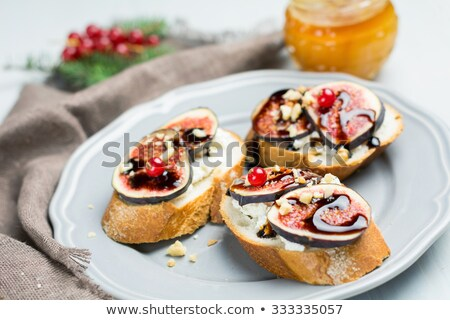 sandwich with cheese honey and walnut for autumn stock photo © m-studio