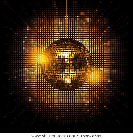 abstract · goud · mozaiek · vector · disco · stijl - stockfoto © beholdereye