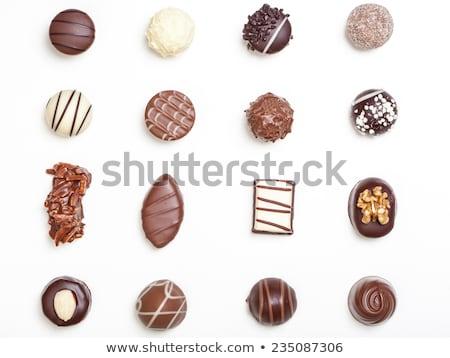 çikolata beyaz gıda arka plan şeker yağ Stok fotoğraf © digoarpi