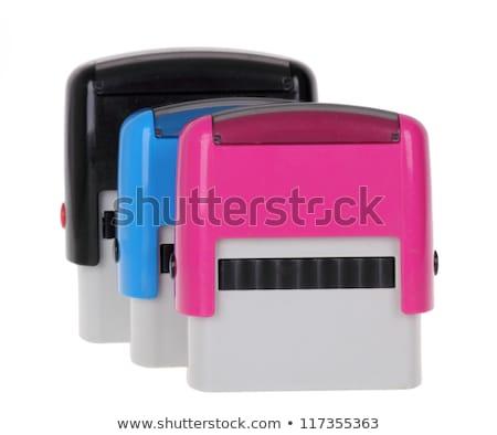 Automatyczny papieru wydruku atramentu szczotki Zdjęcia stock © IMaster
