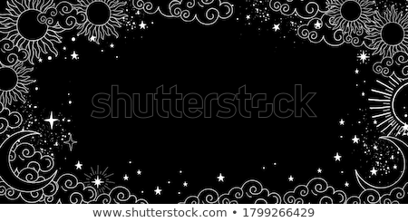 Astrologie texte illustration blanche signe calendrier Photo stock © get4net