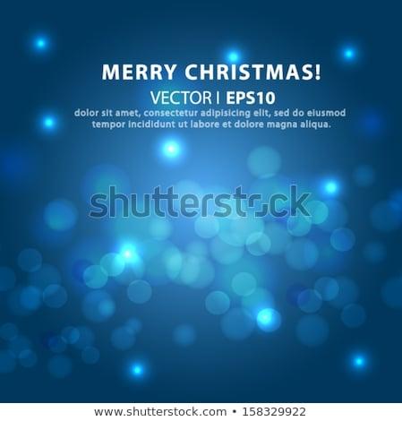 blue lights bokeh effect eps 10 stock photo © beholdereye
