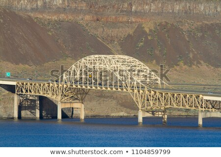Columbia River Gorge Washington State Vantage Bridge I-90 Stock photo © cboswell