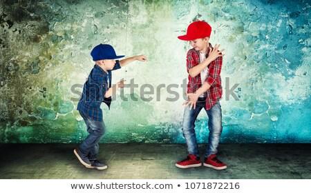 Little boy dancing hiphop Stock photo © bluering