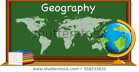 Geography subject with worldmap and books Stock photo © bluering