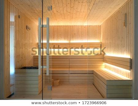 Sauna oda terapi dinlenmek mum banyo Stok fotoğraf © vichie81