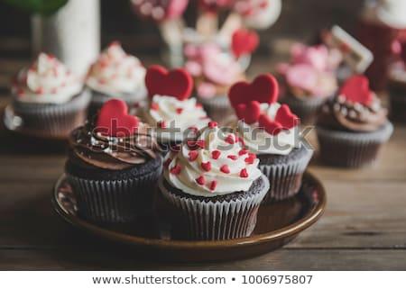 chocolate cake for valentine's day Stock photo © M-studio