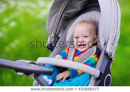 Modern comfortable baby carriage Stock photo © orensila