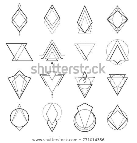 Místico geométrico linhas abstrato cartão cartaz Foto stock © SArts