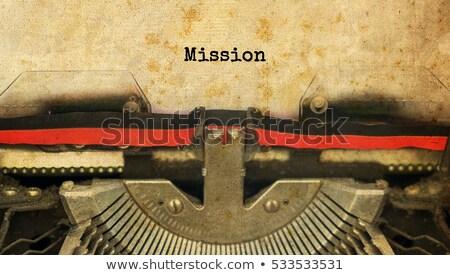 máquina · de · escrever · negócio · plano · imagem · impresso · velho - foto stock © ivelin