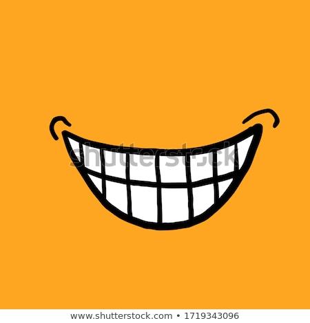 Zdjęcia stock: Uśmiech · podpisania · 3d · osób · człowiek · osoby · twarz
