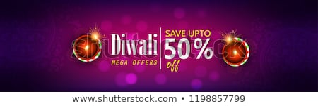 Stock photo: diwali sale with diya decoration