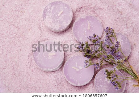 Lavendel zeezout kaarsen geïsoleerd witte natuur Stockfoto © All32