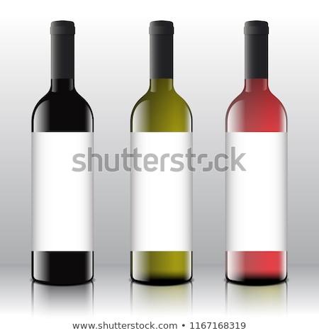 Foto d'archivio: Vector Wine Bottles Realistic Style Mock Up