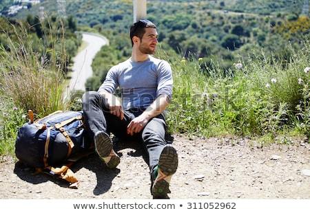 caminante · romper · vista · alpes · Alemania · hombre - foto stock © kb-photodesign