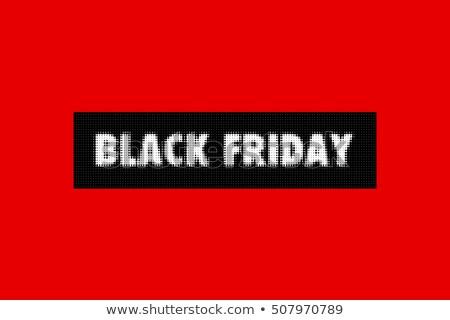 черная пятница как продажи плакат красный фон Сток-фото © SArts