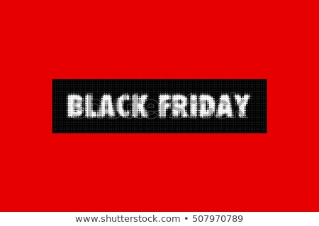 Foto stock: Black · friday · venda · cartaz · vermelho · fundo
