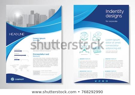 Libretto pagina coprire magazine design blu Foto d'archivio © SArts