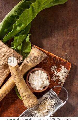 Chrzan korzeń metal puchar zdrowych Zdjęcia stock © Digifoodstock