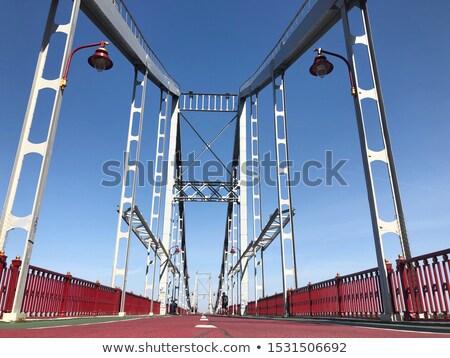 Pedestre ponte Ucrânia prazer barco rio Foto stock © joyr