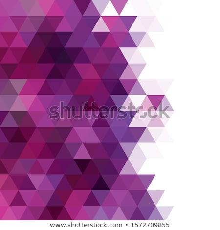 Foto stock: Roxo · triângulo · diversão · branco · estúdio