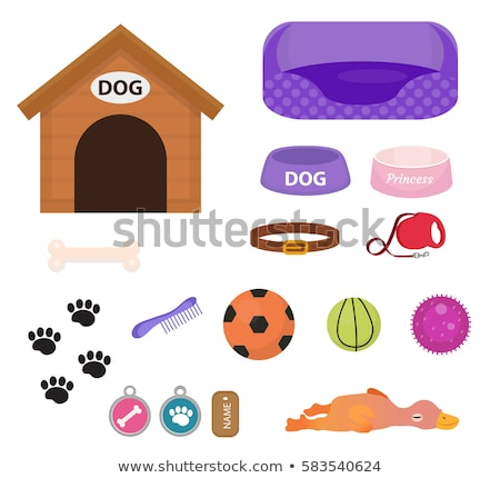 Ball dog toy icon flat, cartoon style. Isolated on white background. Vector illustration, clip-art. Stock photo © lucia_fox