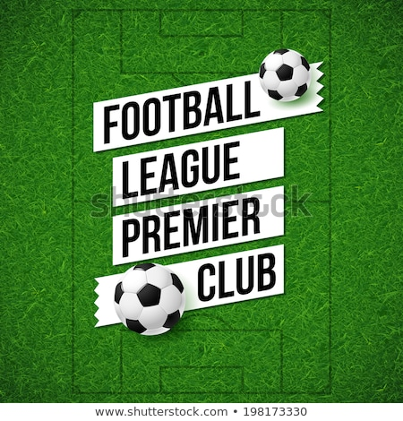 Kreatív sportok futball futball poszter terv Stock fotó © SArts