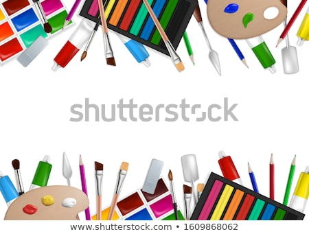 Realistic artist paintbrushes set Stock photo © pakete